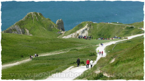 Footpath  from Car Park at Durdle Door Caravan Park to Beach