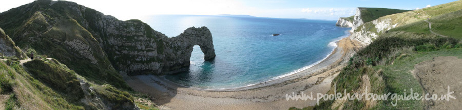 Durdle Door Beach Panoramic Photo